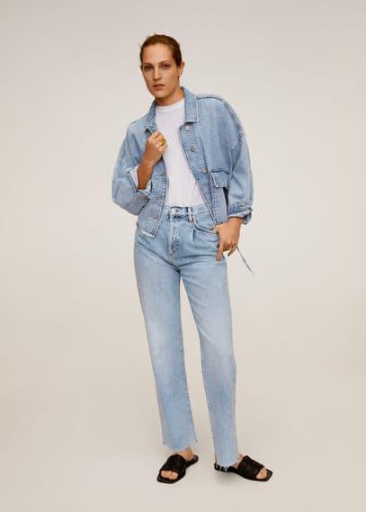 mango - Jeansjacke mit verstellbarer taille