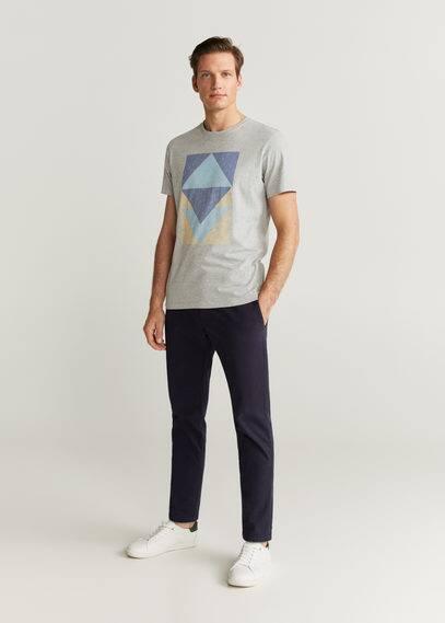 mango man - Baumwoll-t-shirt mit motiv