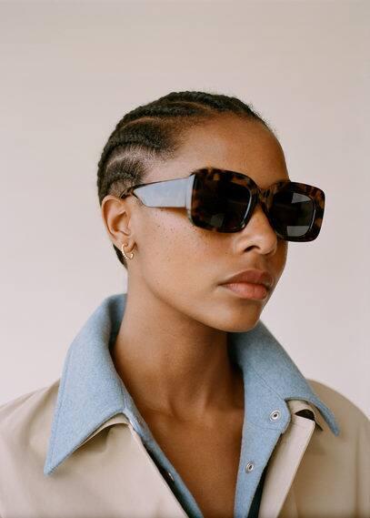 mango - Sonnenbrille mit viereckiger brillenfassung