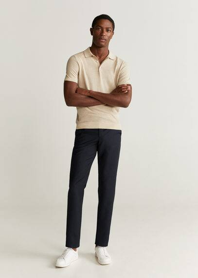 mango man - Slim fit-anzughose aus wolle