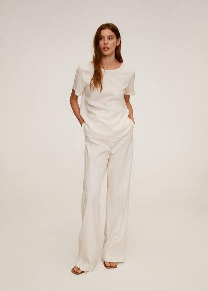 Льняная блузка с карманами - Dolce