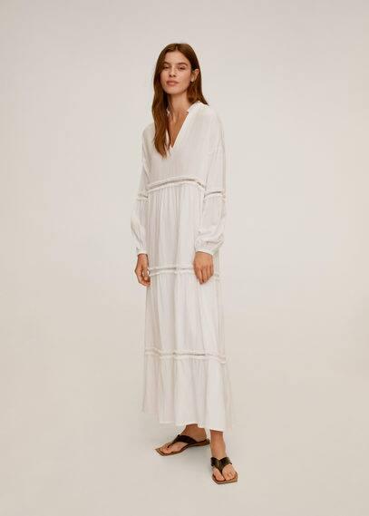 Платье с вышивкой и перфорацией - Maki-a