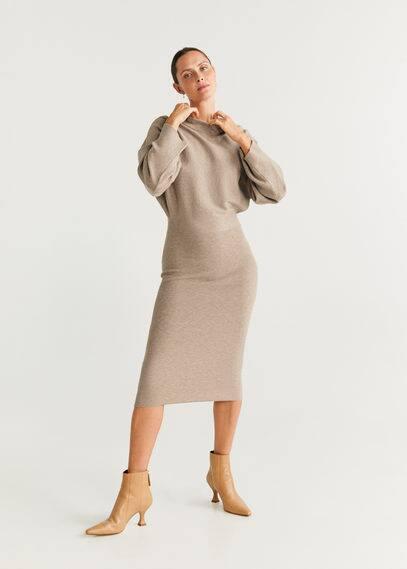 Jerseykleid mit kontrastoberteil