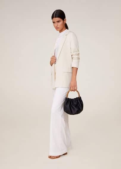 mango - Soft-blazer mit taschen