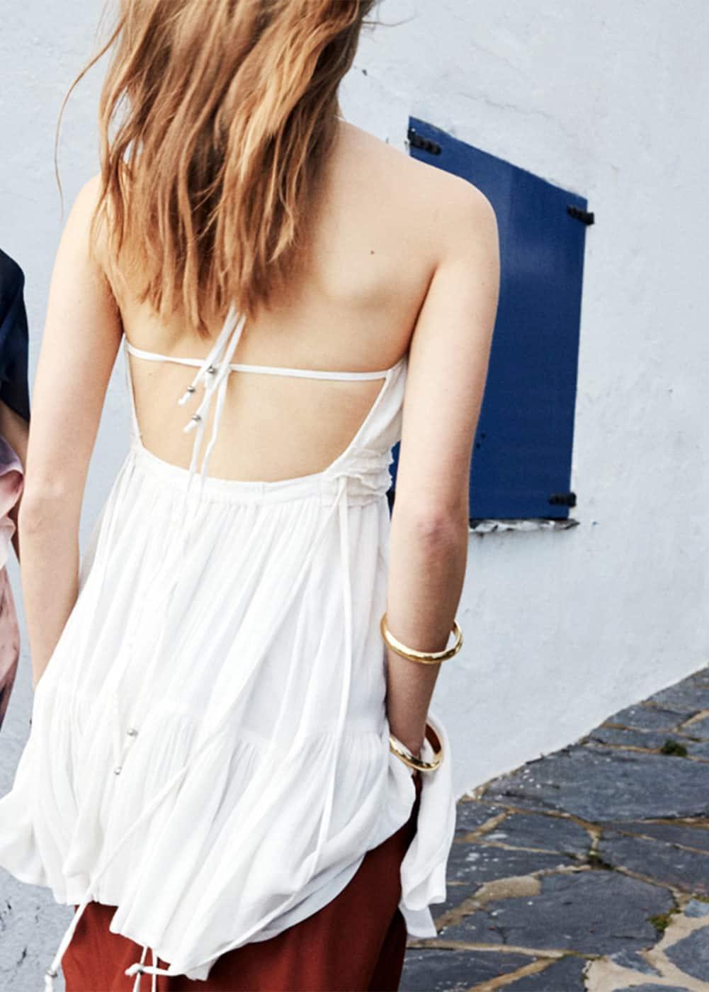 Vestido abertura espalda | MANGO