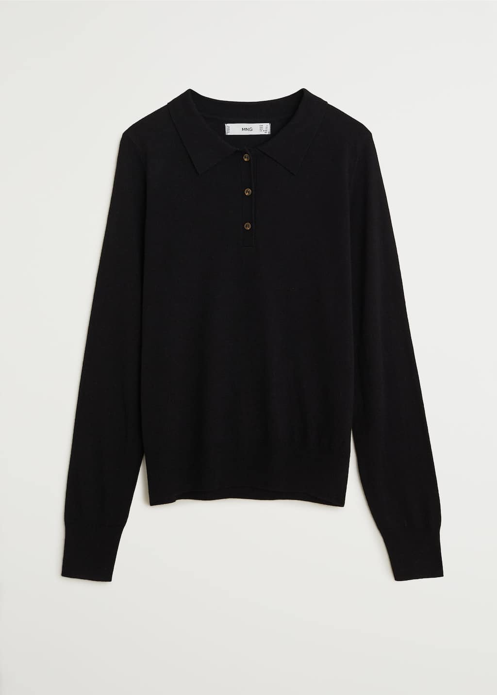 Fine-knit polo shirt - Article without model
