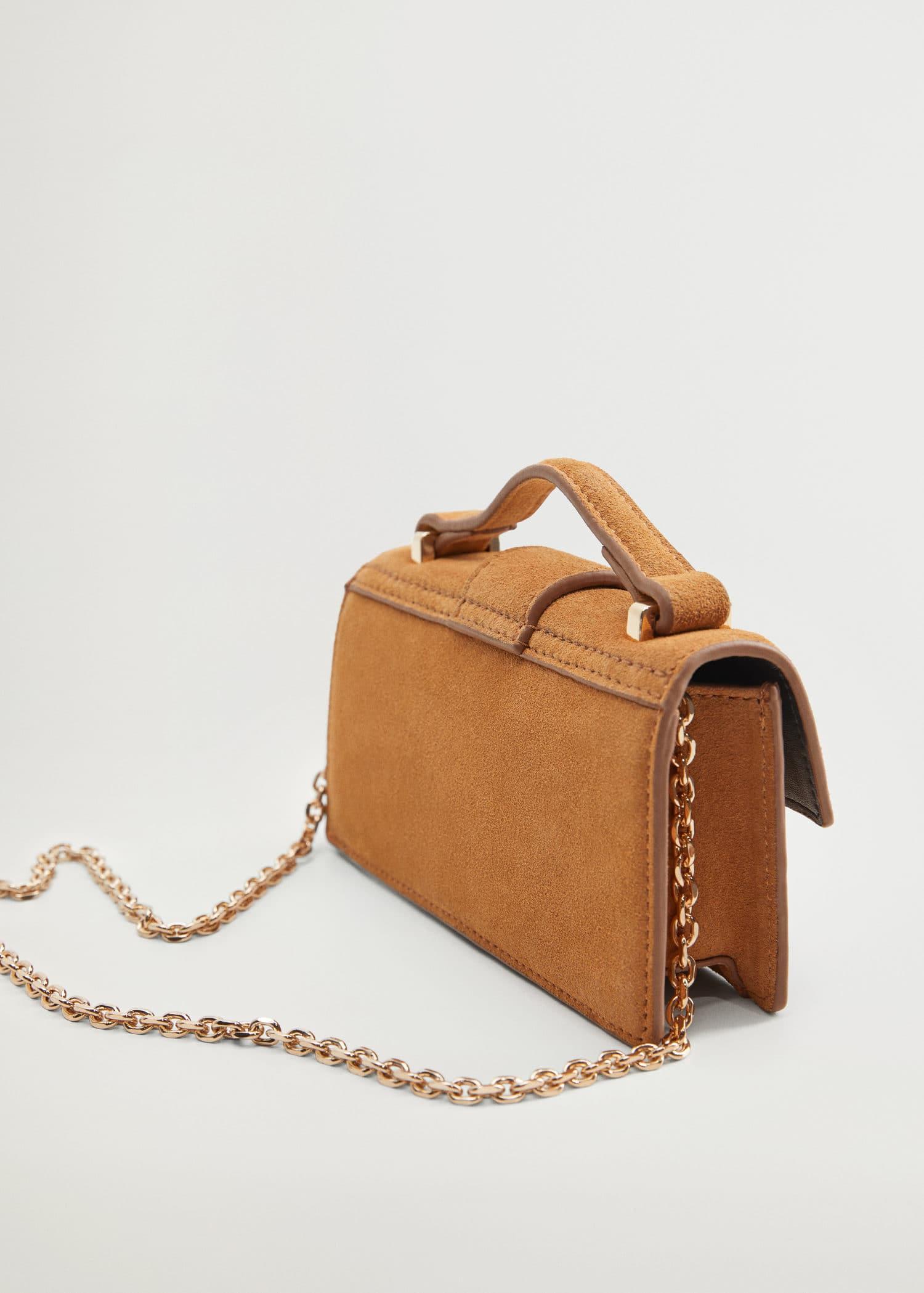 Leather mini bag - Woman | Mango South Africa