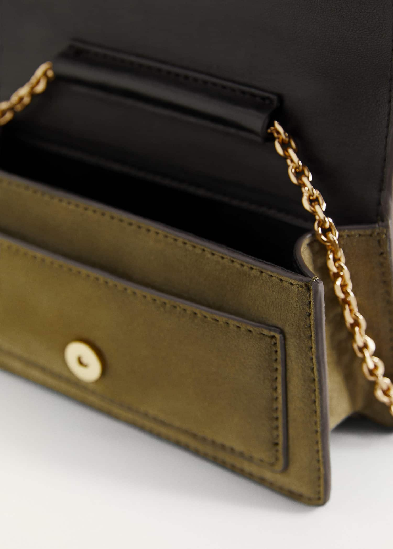 Leather mini bag - Women | Mango United Kingdom