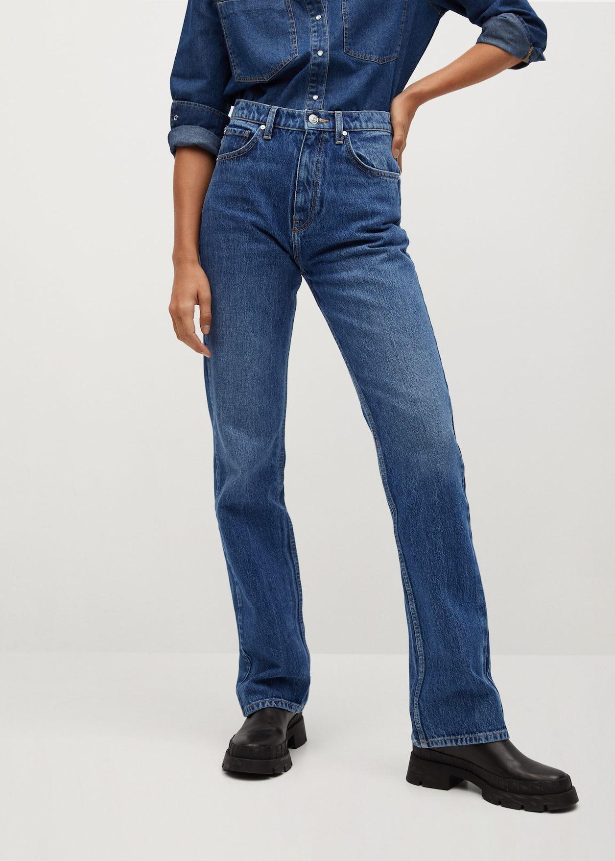 Джинсы | Flare джинсы Mango