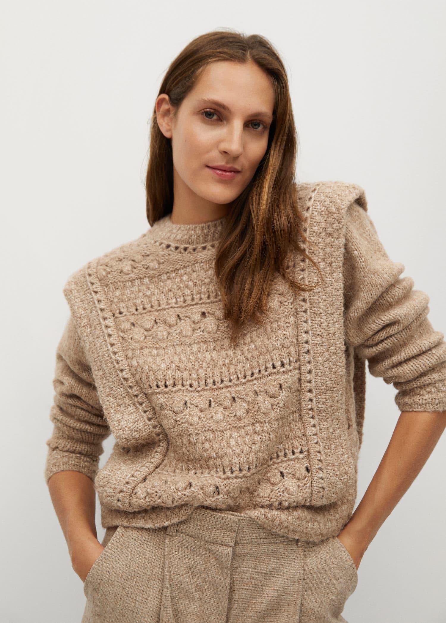 Openwork knit sweater - Medium plane