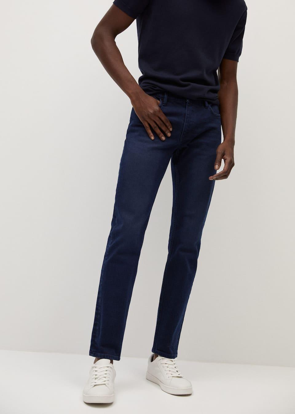 Slim Fit Faded Dark Wash Jan Jeans Men Mango Man Usa