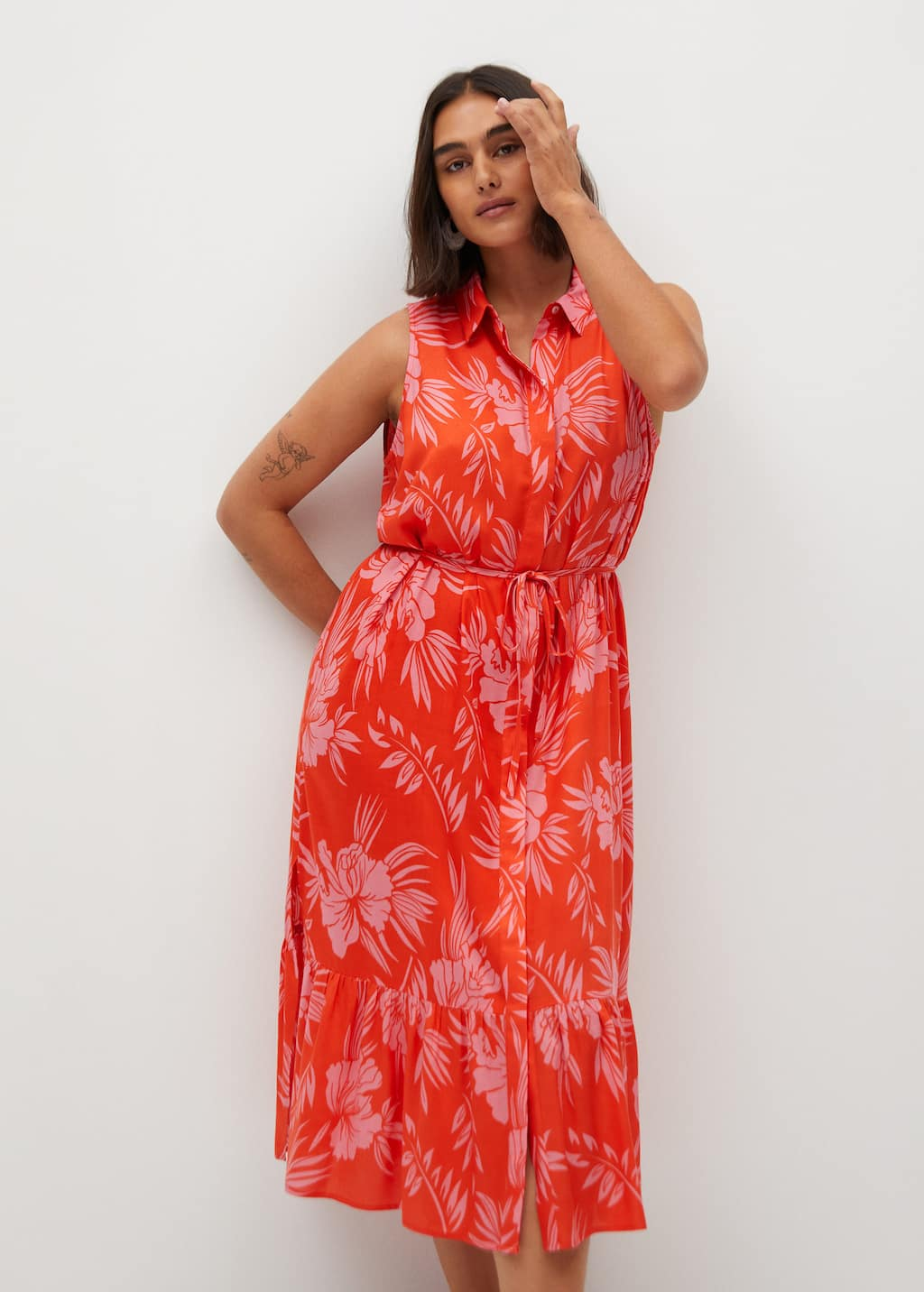 Robe A Imprime Tropical Grandes Tailles Violeta By Mango France Guadeloupe