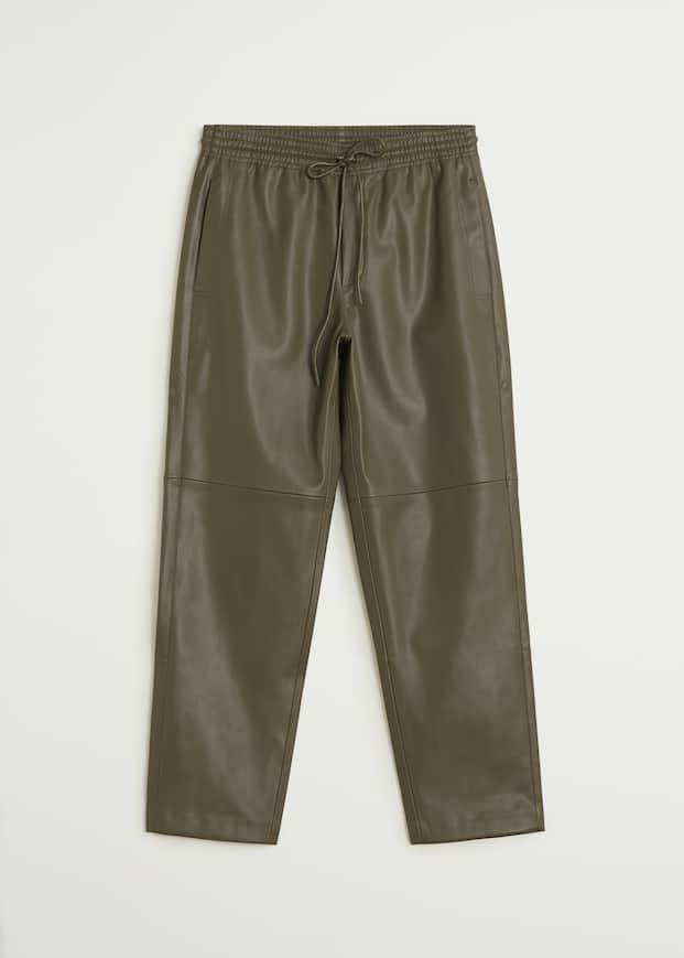 Pantalón cintura elástica efecto piel - Artículo sin modelo