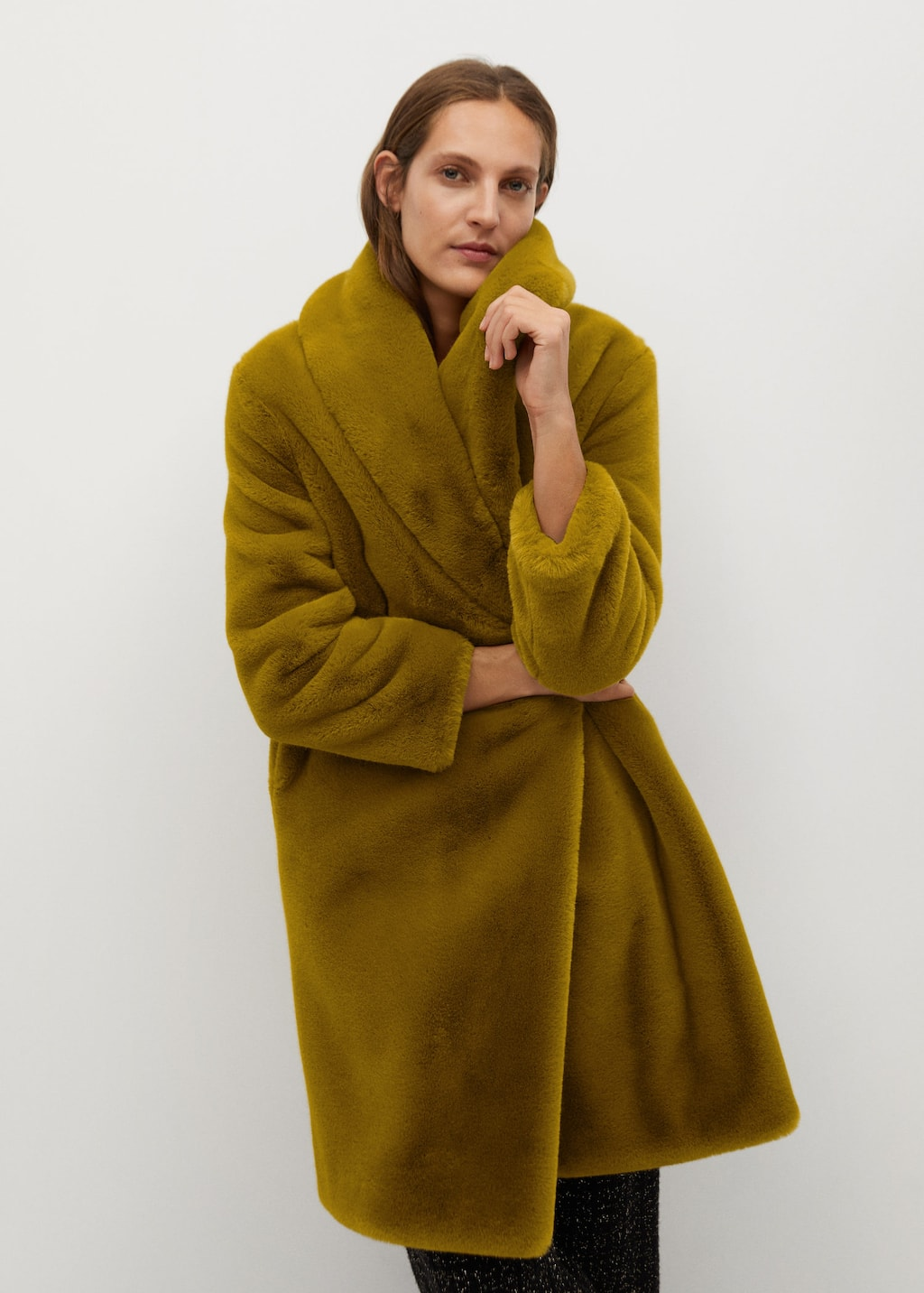 Fluffy long coat - Medium plane