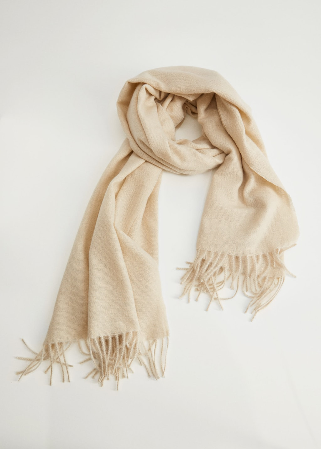 Fringed edge wool-blend scarf - Details of the article 3