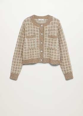 Check tweed cardigan - Article without model
