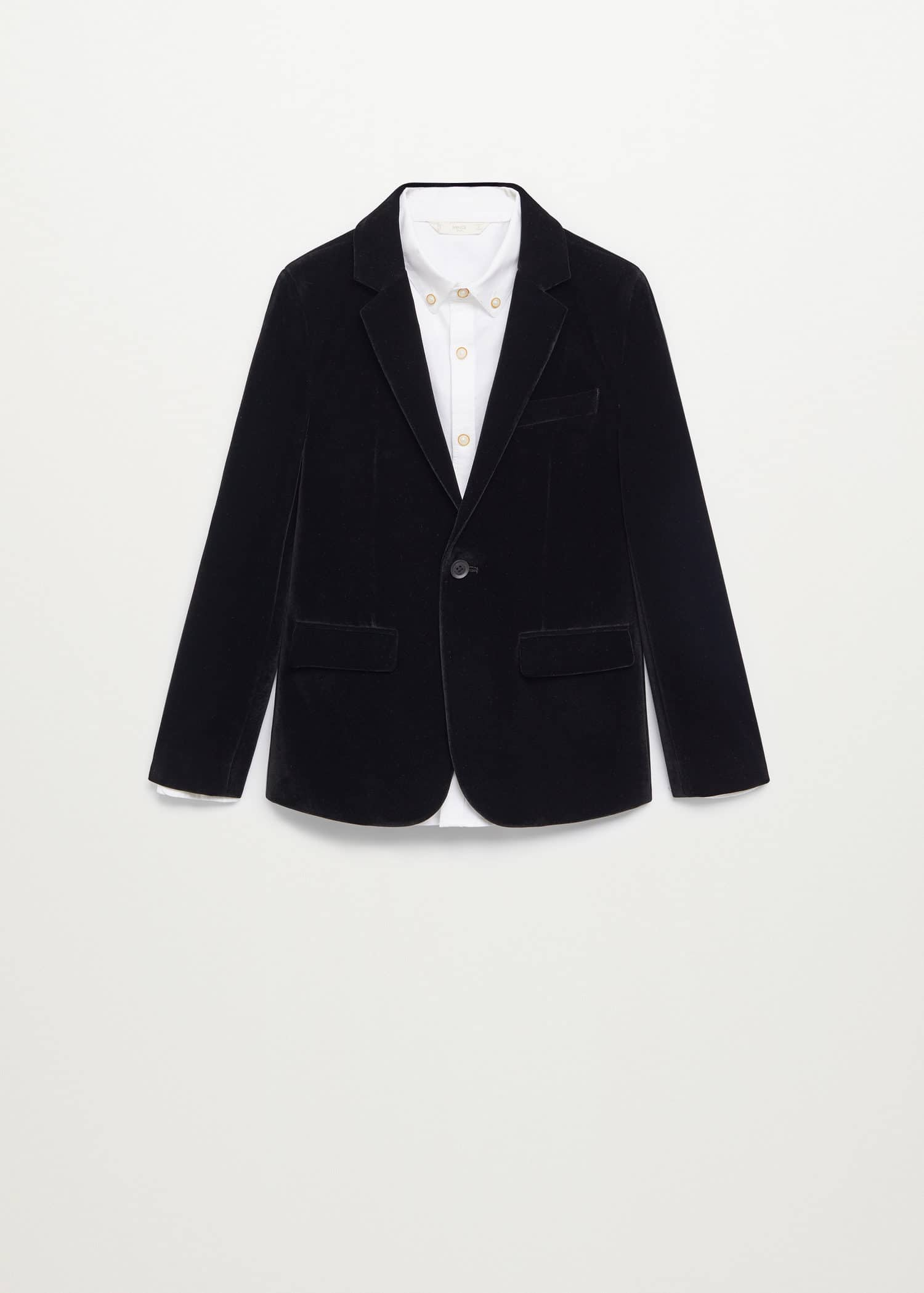 Velvet structured blazer - Article without model