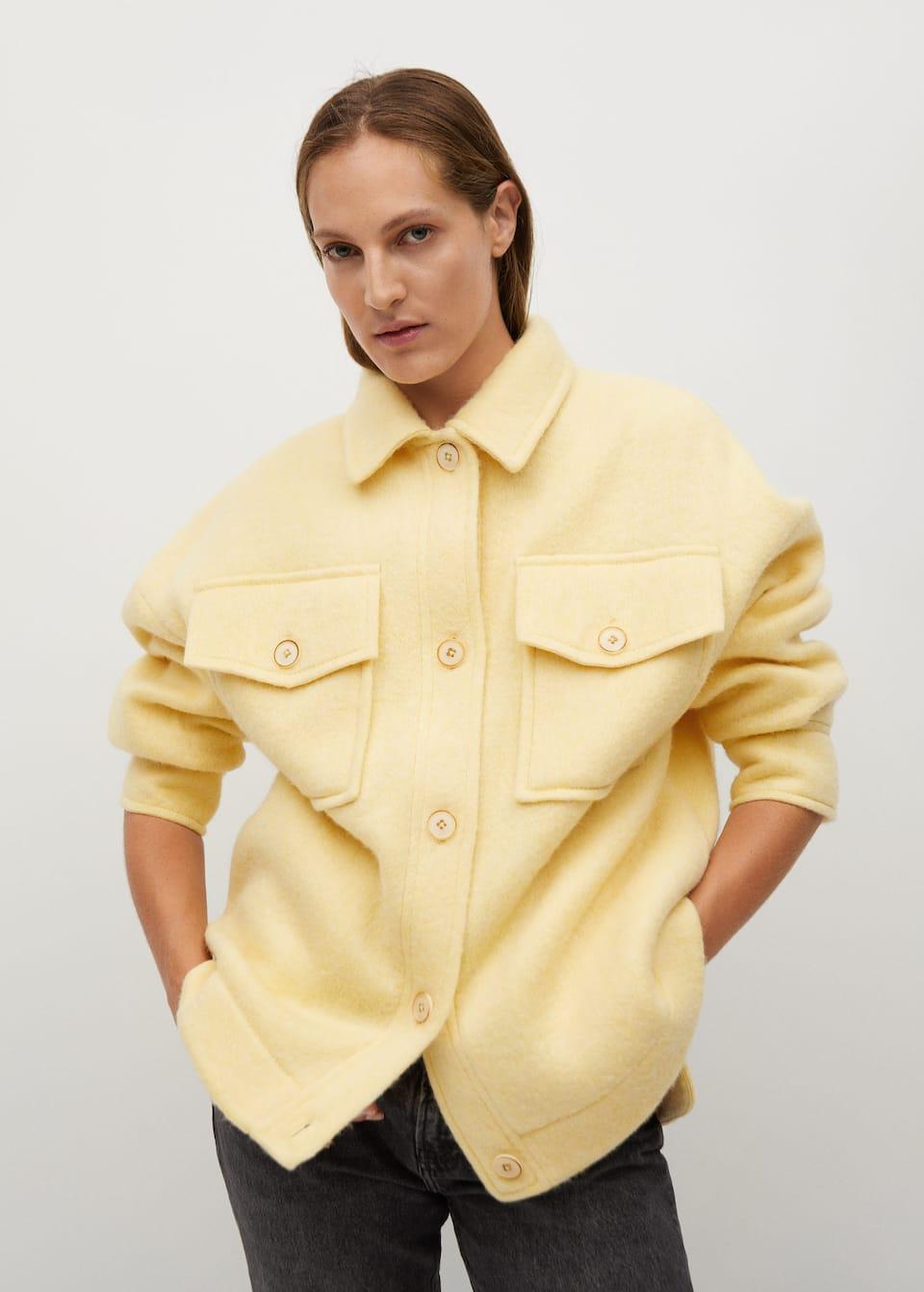 Knitted oversize jacket - Medium plane mango