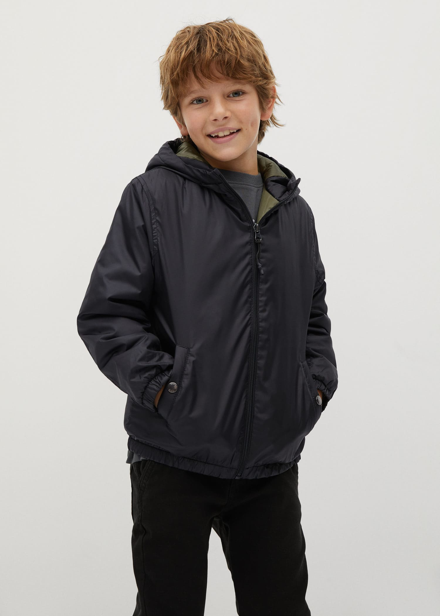 Baby boys cotton blend navy blue hooded jacket hoodie new from Mango