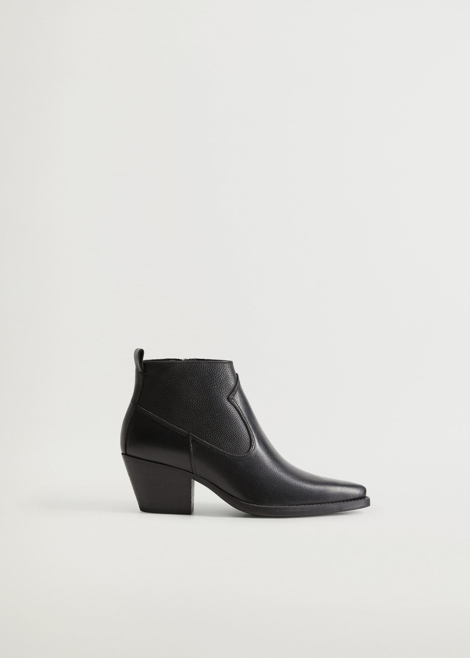 Heel leather ankle boot - Women | Mango USA