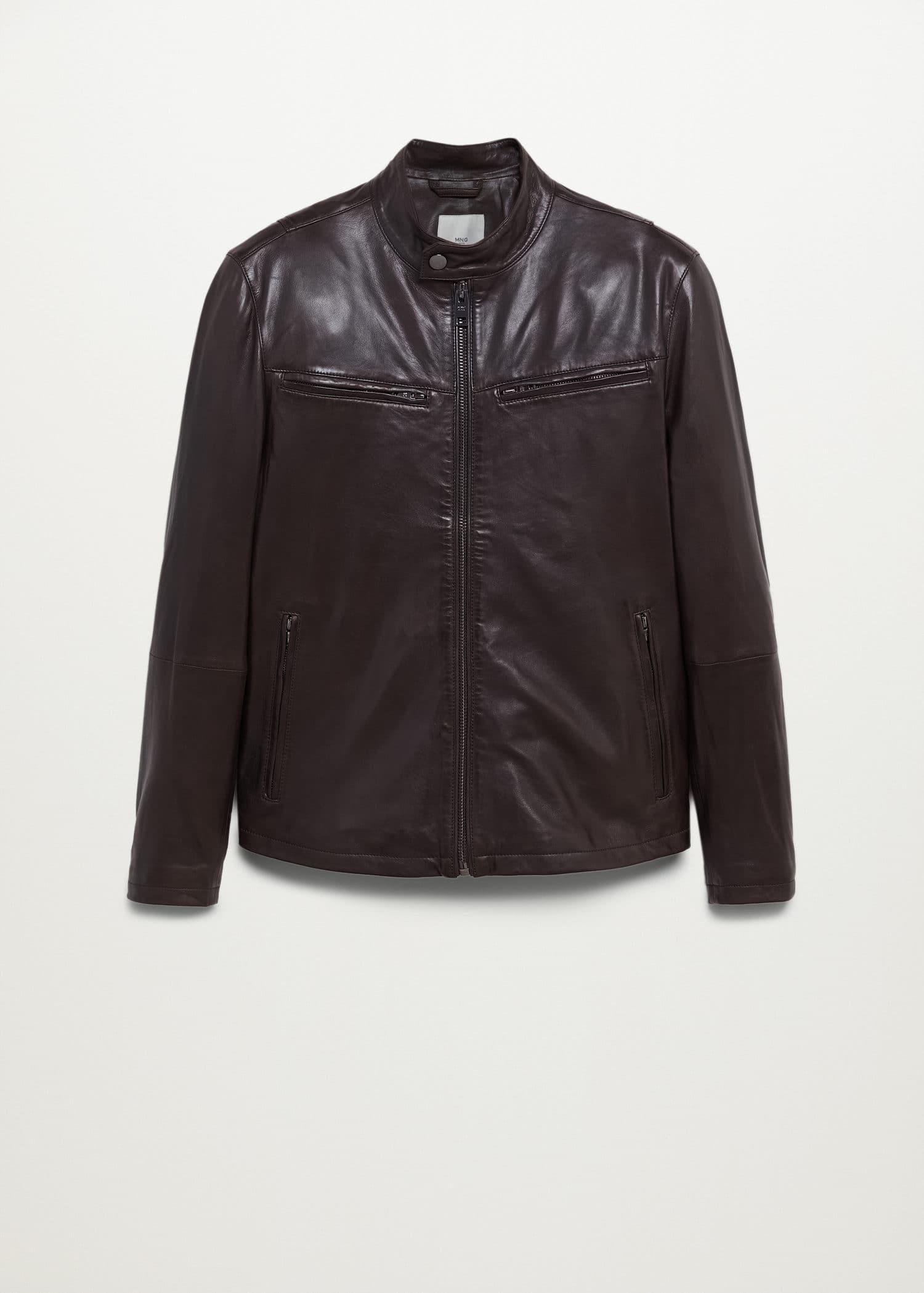 Modalite Net Mango Brown Nape Biker Jacket 77054390 32