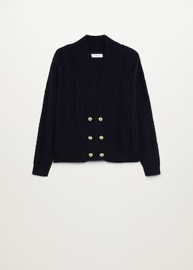 Button knit cardigan - Article without model