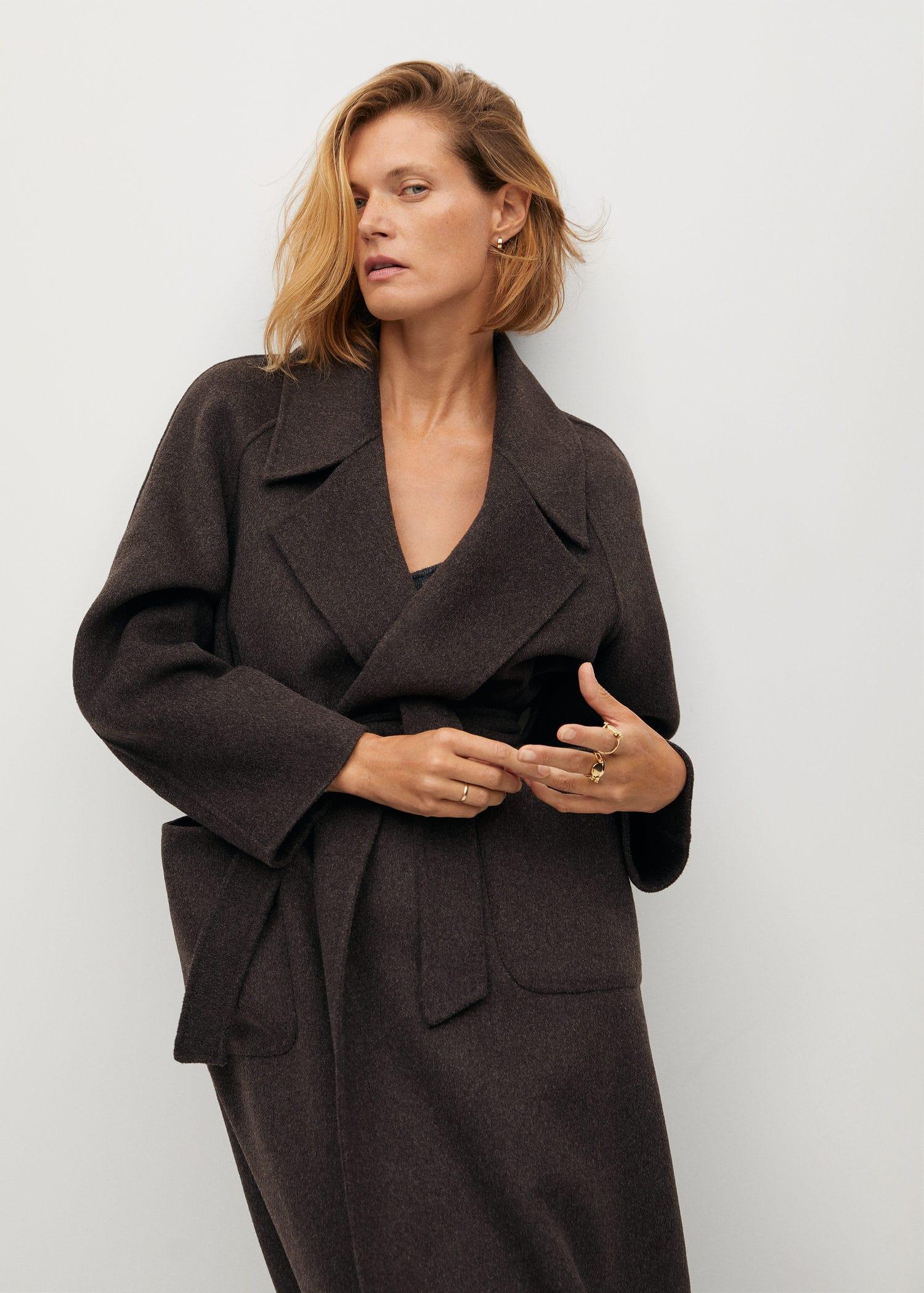 Lange wollige jas | Jassen, Dagelijkse outfit, Mode