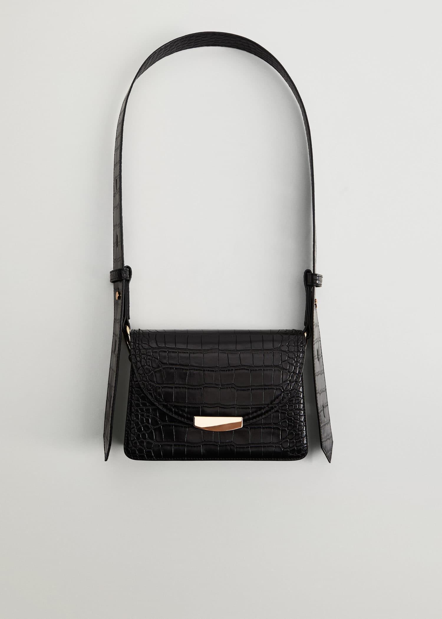 Stenprydd flap väska Damer | Mango Sverige