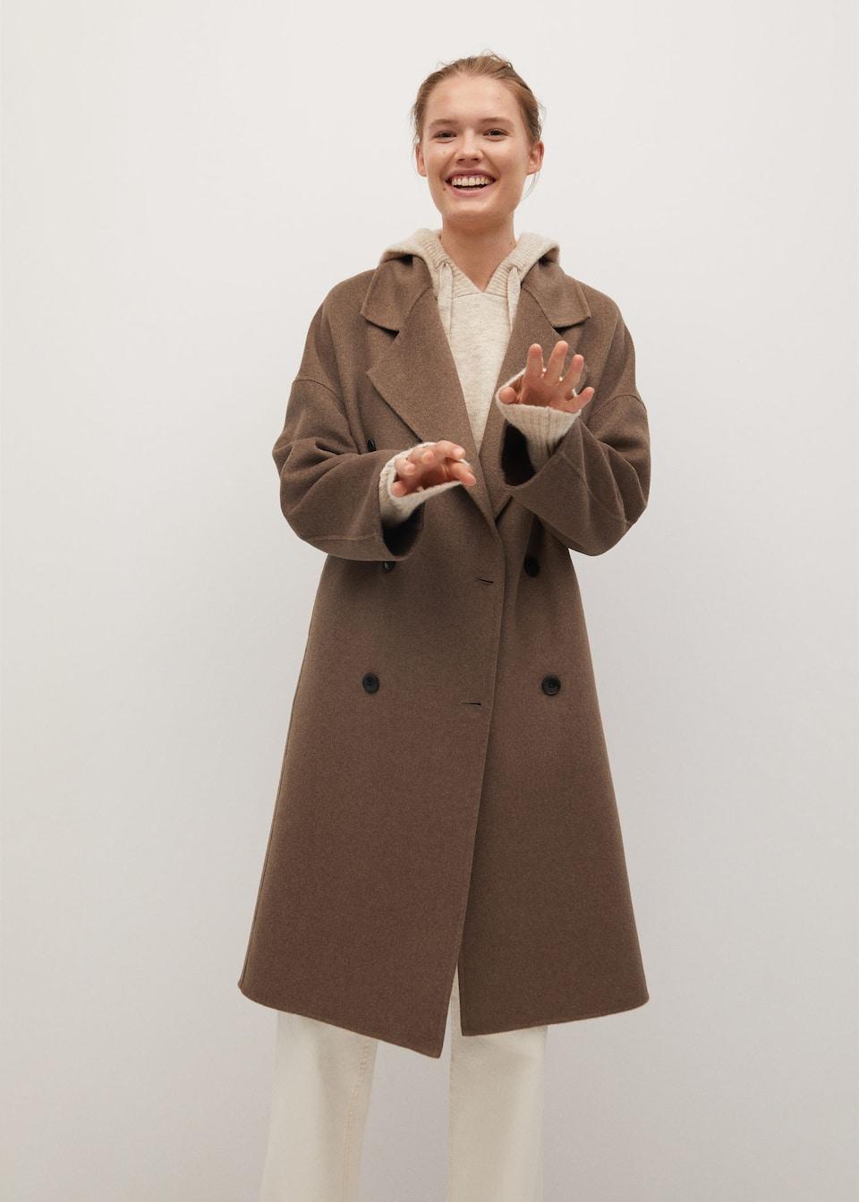 Handmade wool coat - Medium plane