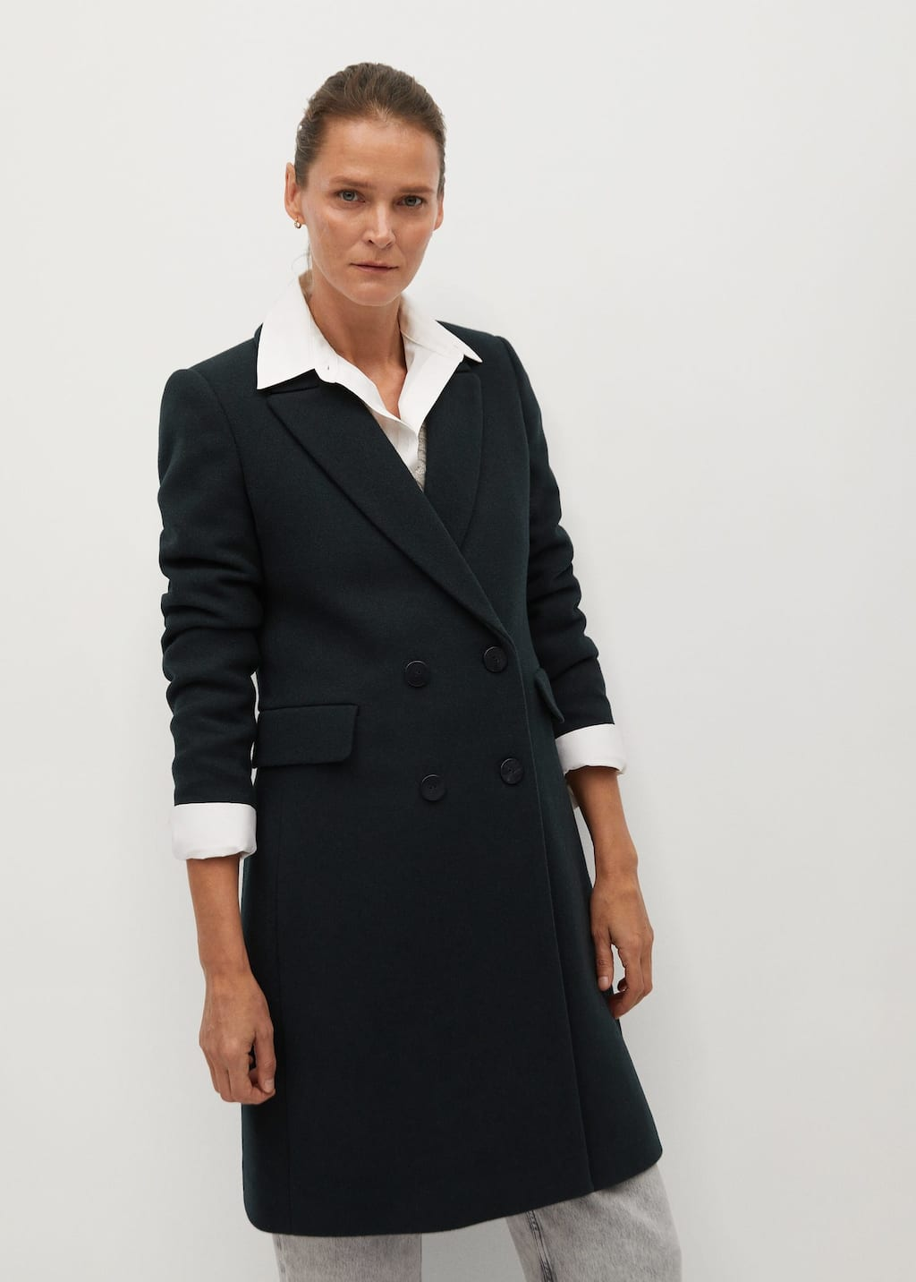 Manteau en laine à double boutonnage - Plan moyen