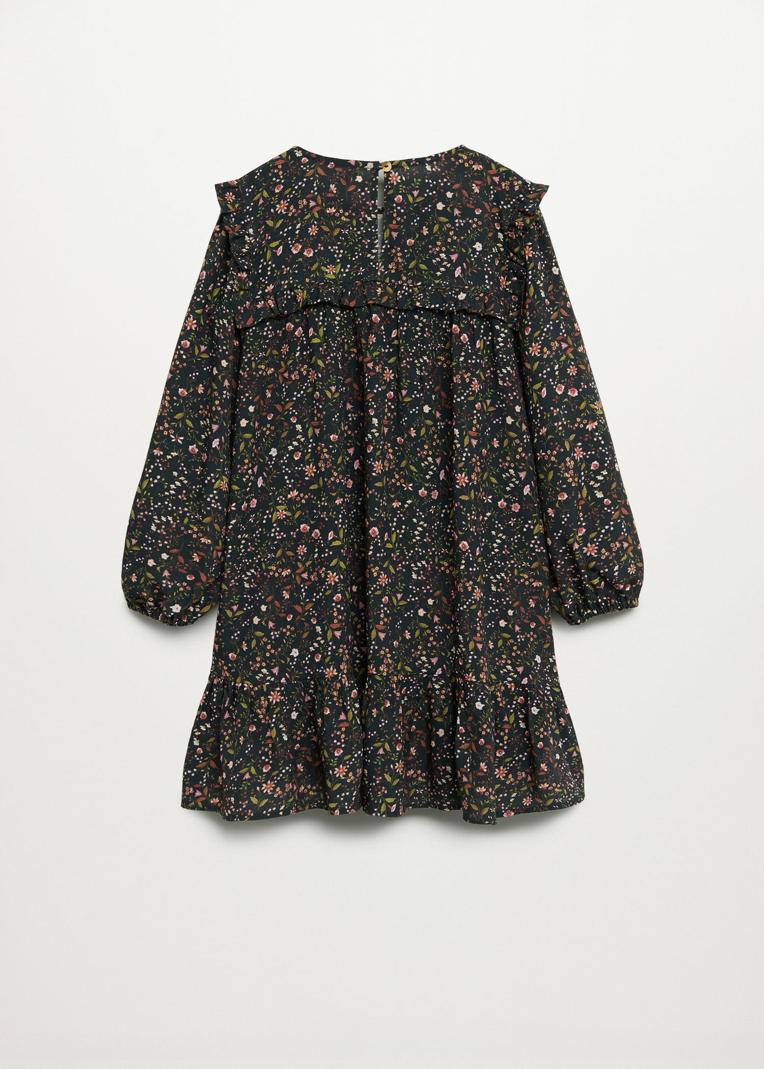 Ruffled floral print dress - Reverse of the article