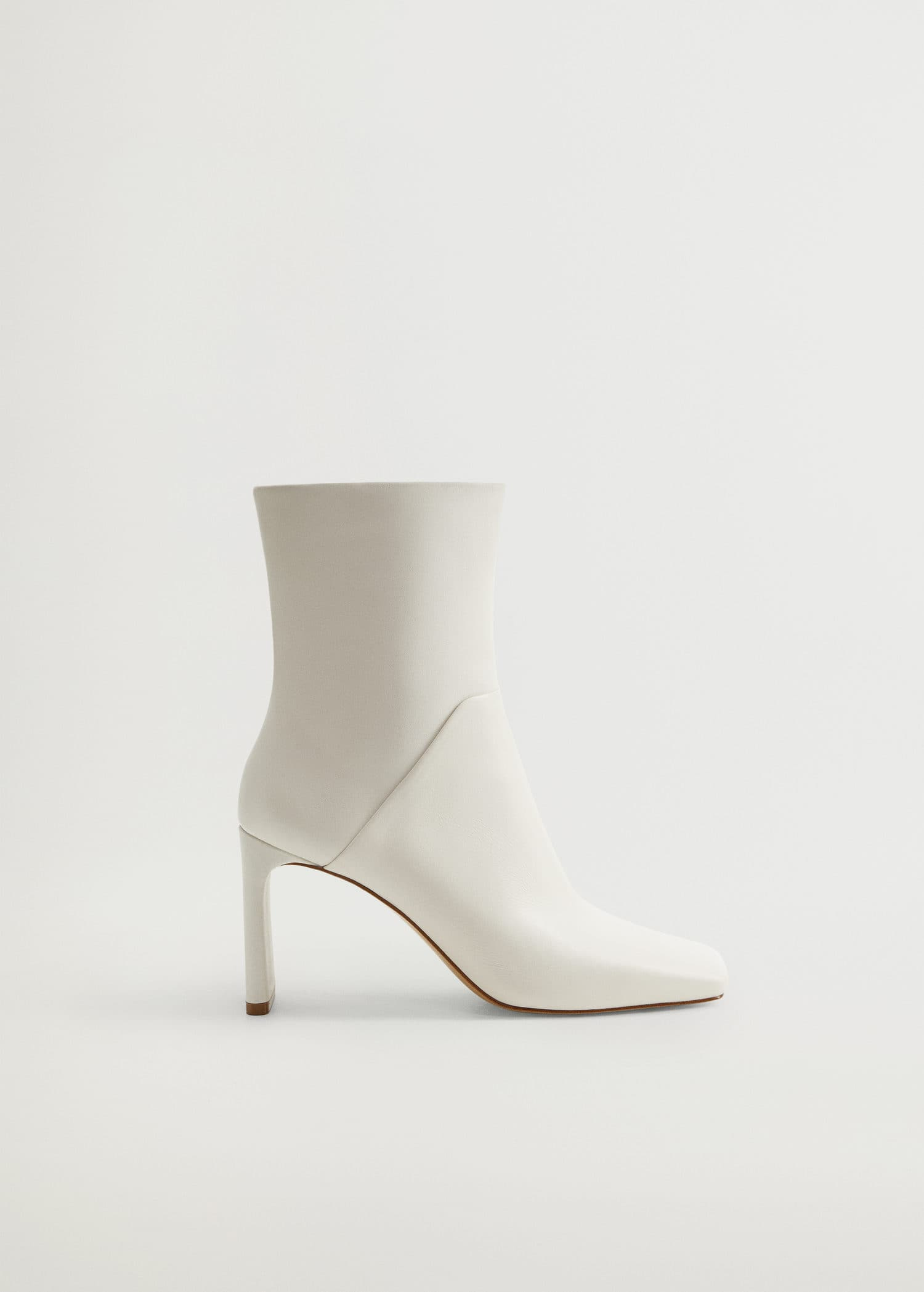 Squared toe leather ankle boots - Woman