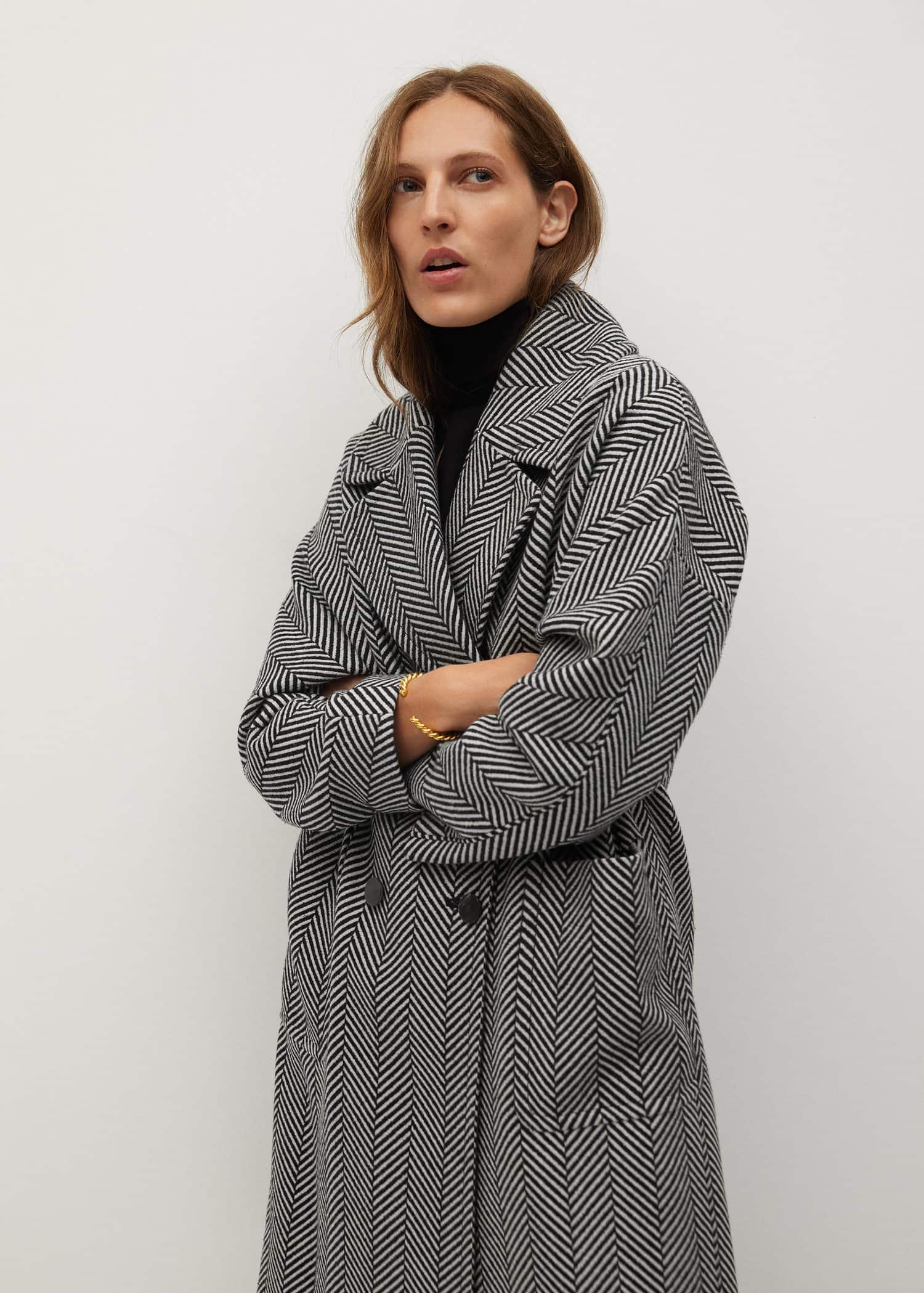 Manteau croisé Femme | Mango France