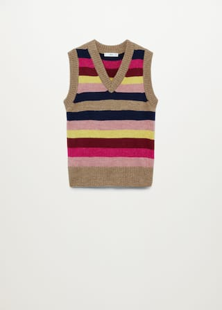 Multicolour knit Gillet - Article without model