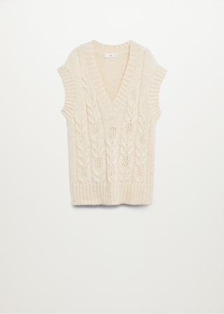 Knitted braided gilet - Article without model
