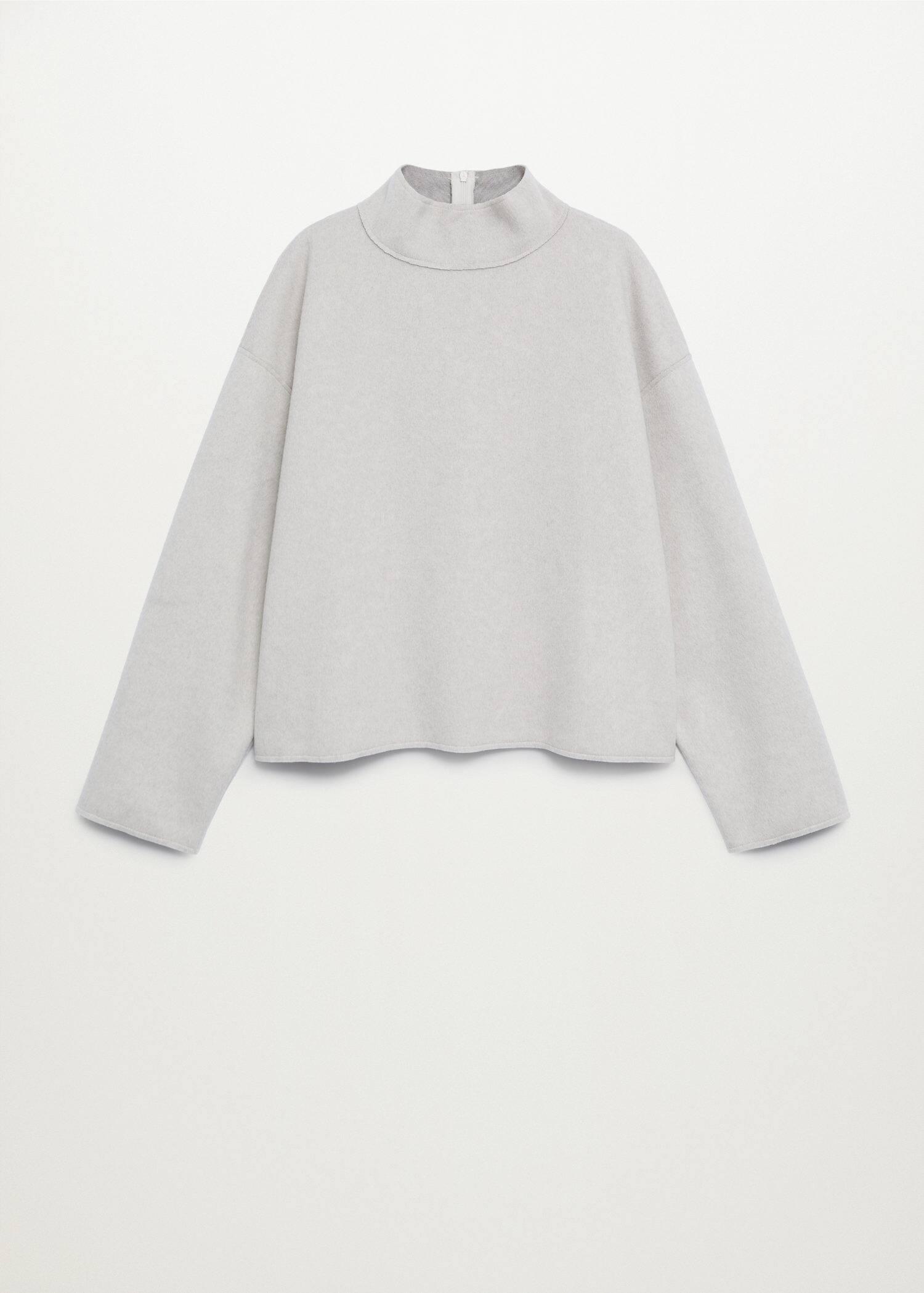 Baumwoll sweatshirt mit rüschen Damen | Mango Österreich