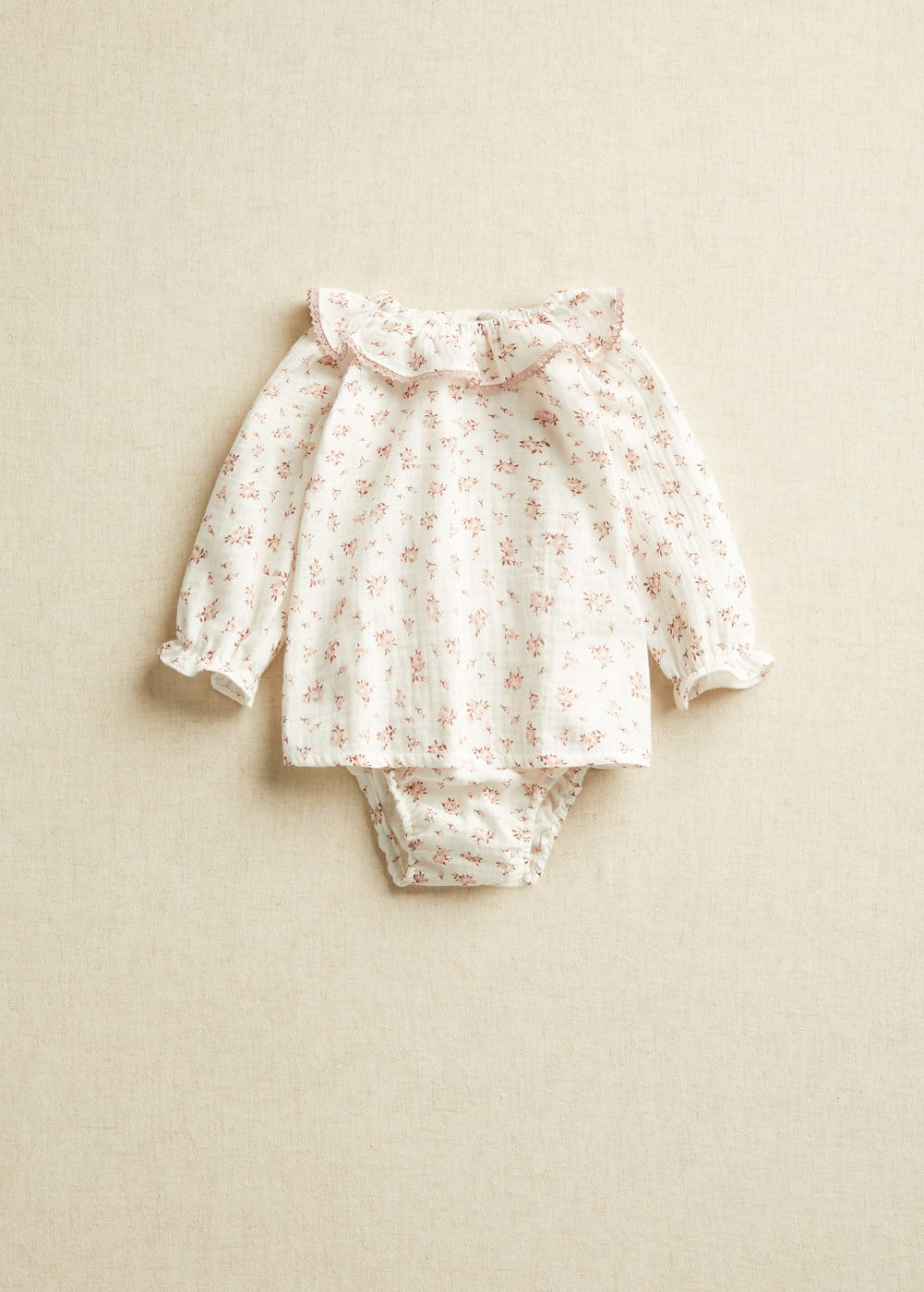 Organic cotton floral baby blouse