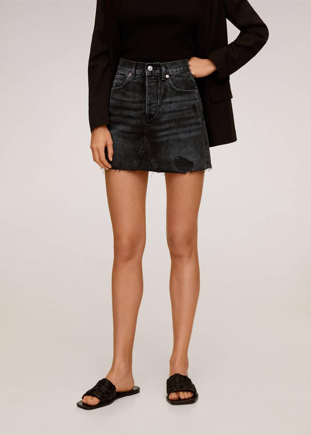 m-monica:minifalda denim