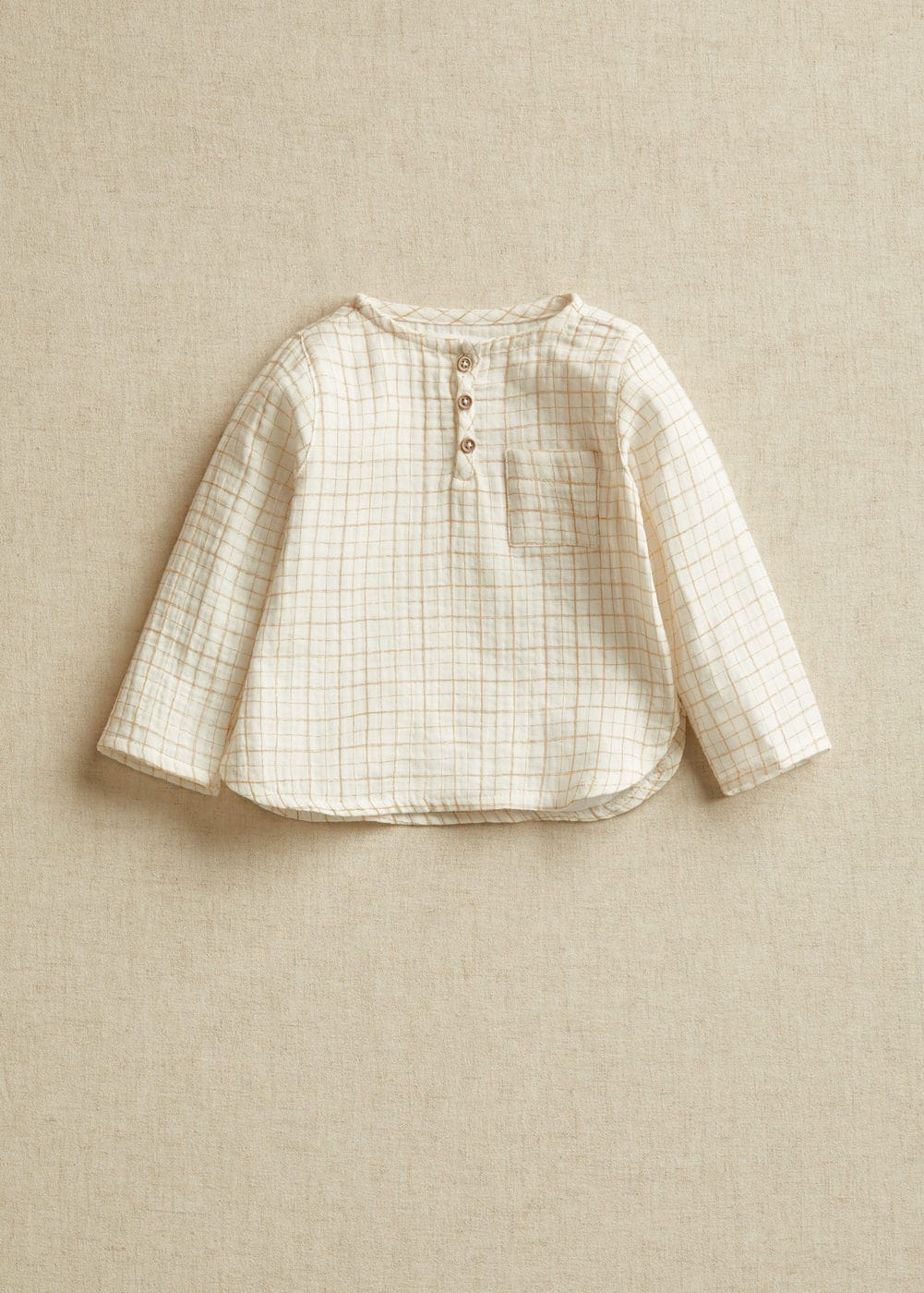 Baby boy check cotton shirt