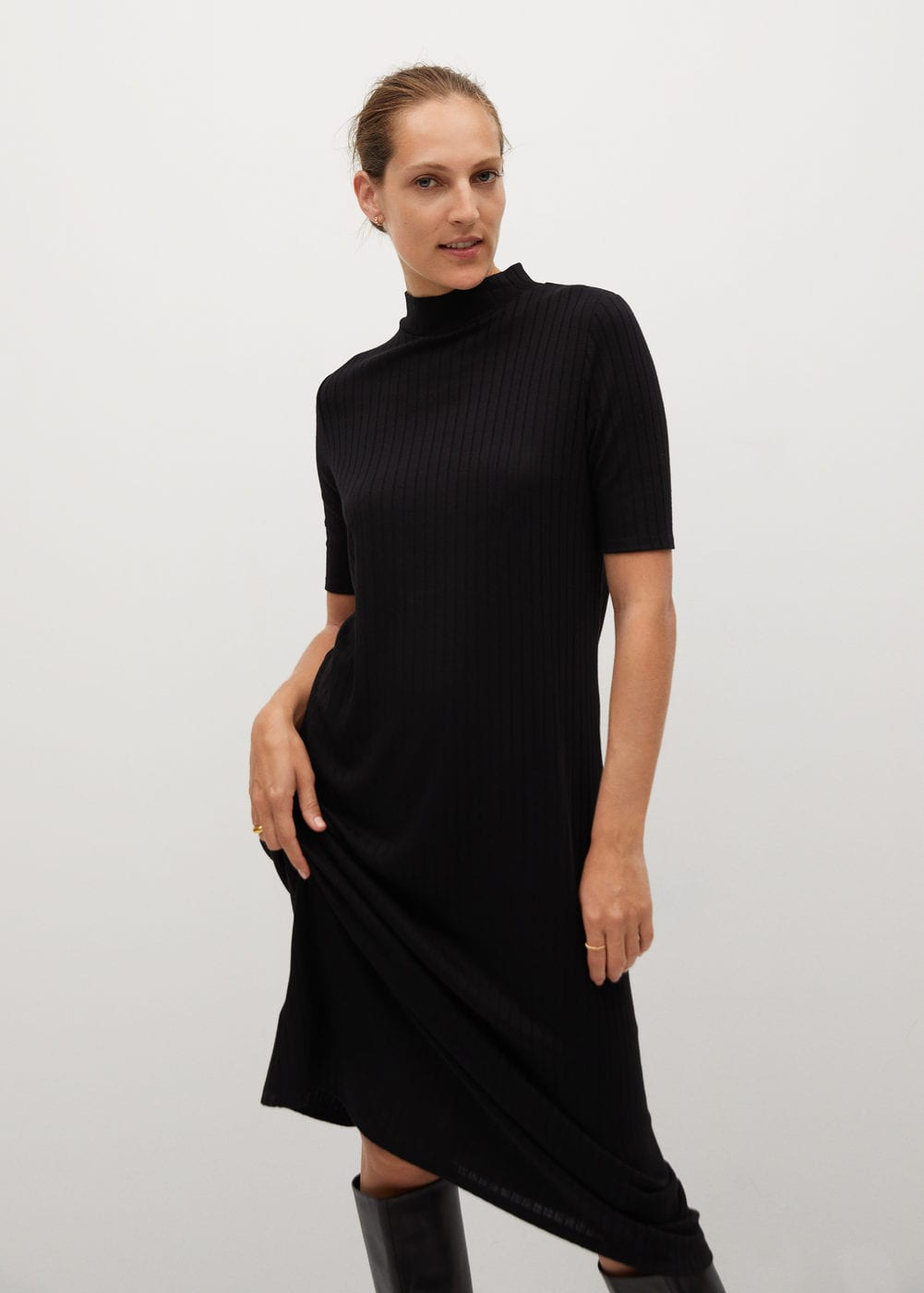 Ribbed jersey dress -  Women | Mango United Kingdom