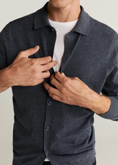 Mango Трикотажная рубашка хлопок и кашемир - Tens