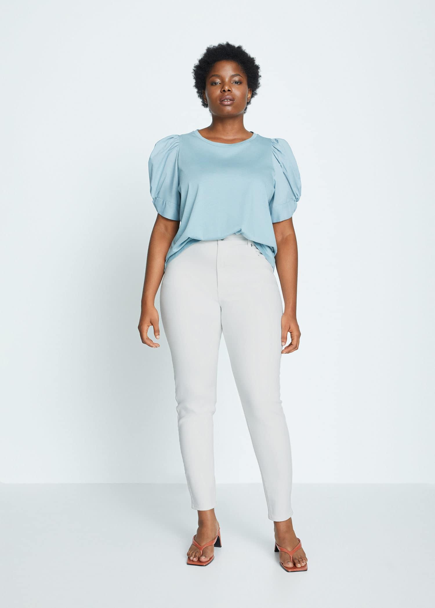Jeans Super Slim Lorena Tallas Grandes Violeta By Mango Espana
