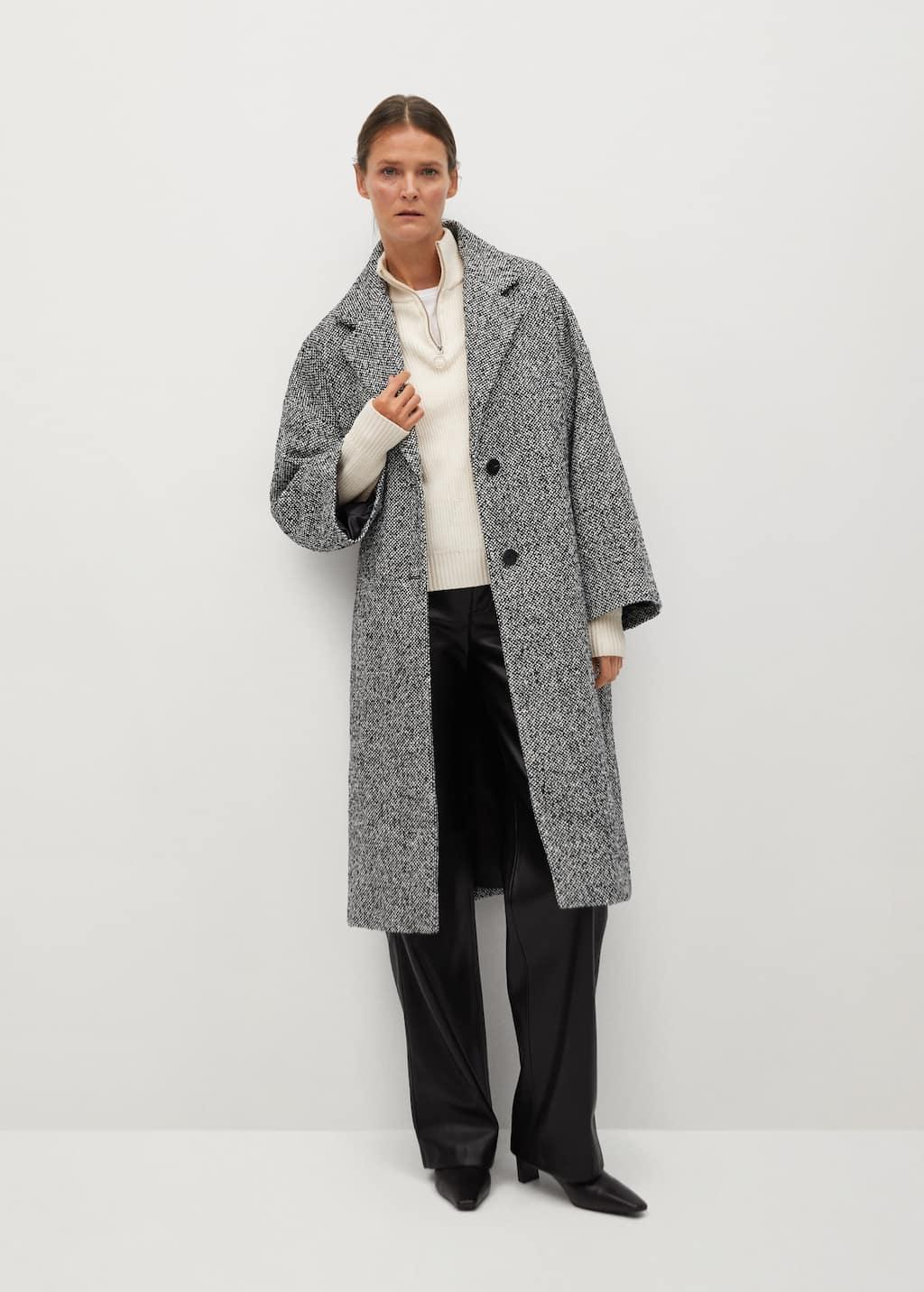 Manteau laine oversize - Plan général