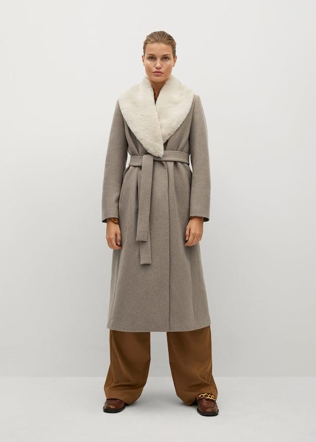 Belted wool coat - General plane