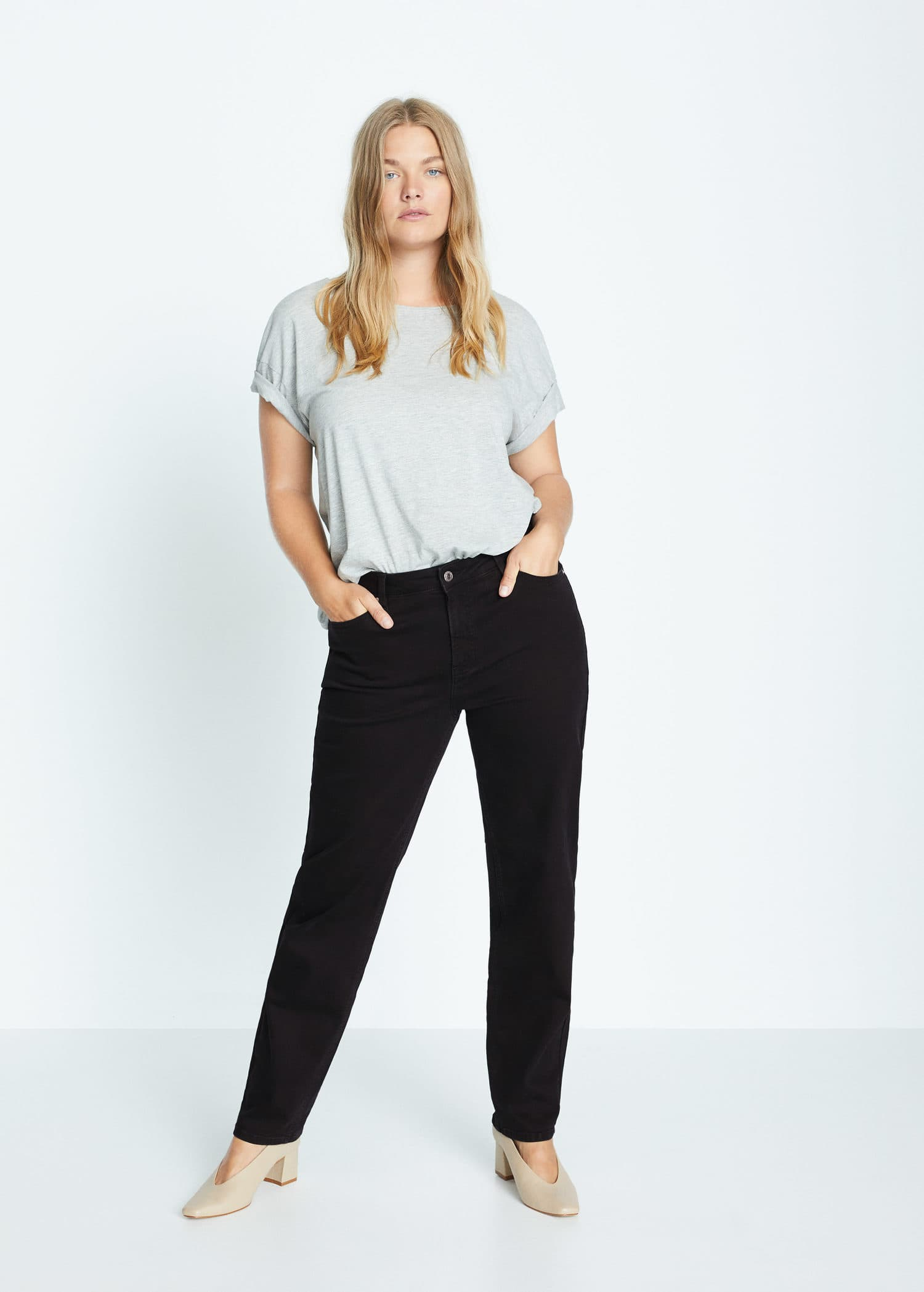 Jeans Relaxed Ely Tallas Grandes Violeta By Mango Espana