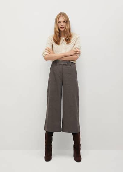 mango - Karierte culotte-hose