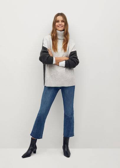 Объемный свитер с воротником с отворотом - Taldorac