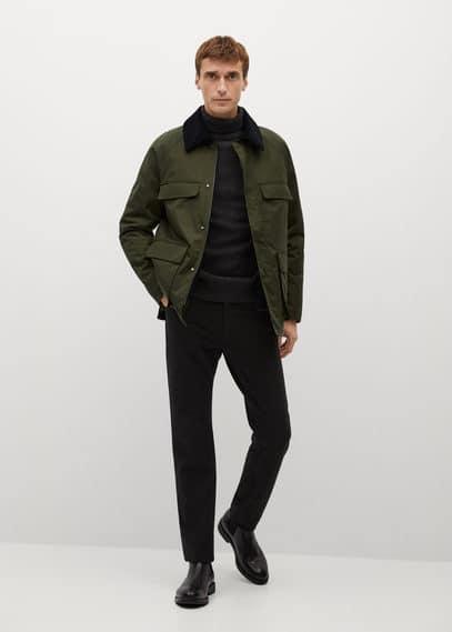 Водоотталкивающая куртка со съемным жилетом - Fields Mango. Цвет: хаки