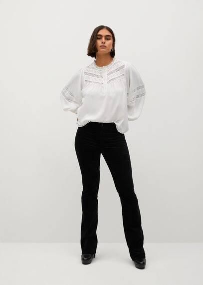 Расклешенные брюки бархат - Vaiana