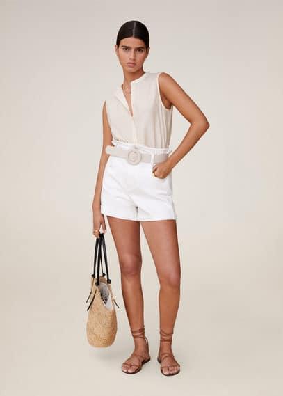 Струящаяся блузка с пуговицами - Sof